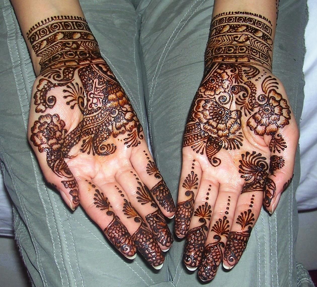 Very Beautiful Bridal Mehndi Designs : Beautiful latest simple arabic pakistani indian bridal