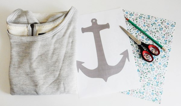 DIY : Sweat ancre thermocollée