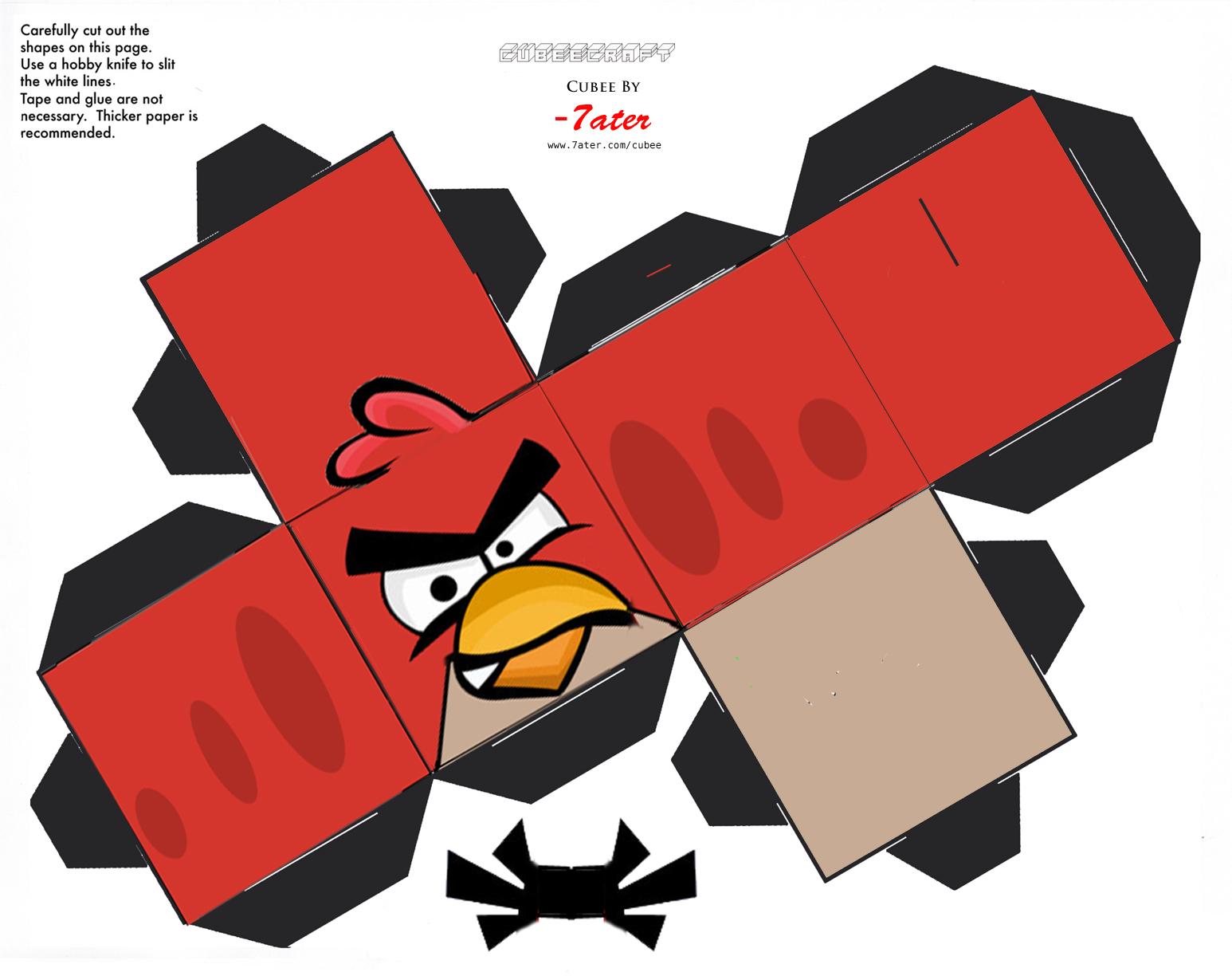 Crie o seu próprio Angry Birds de papel