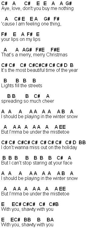 mistletoe sheet music - Heart.impulsar.co