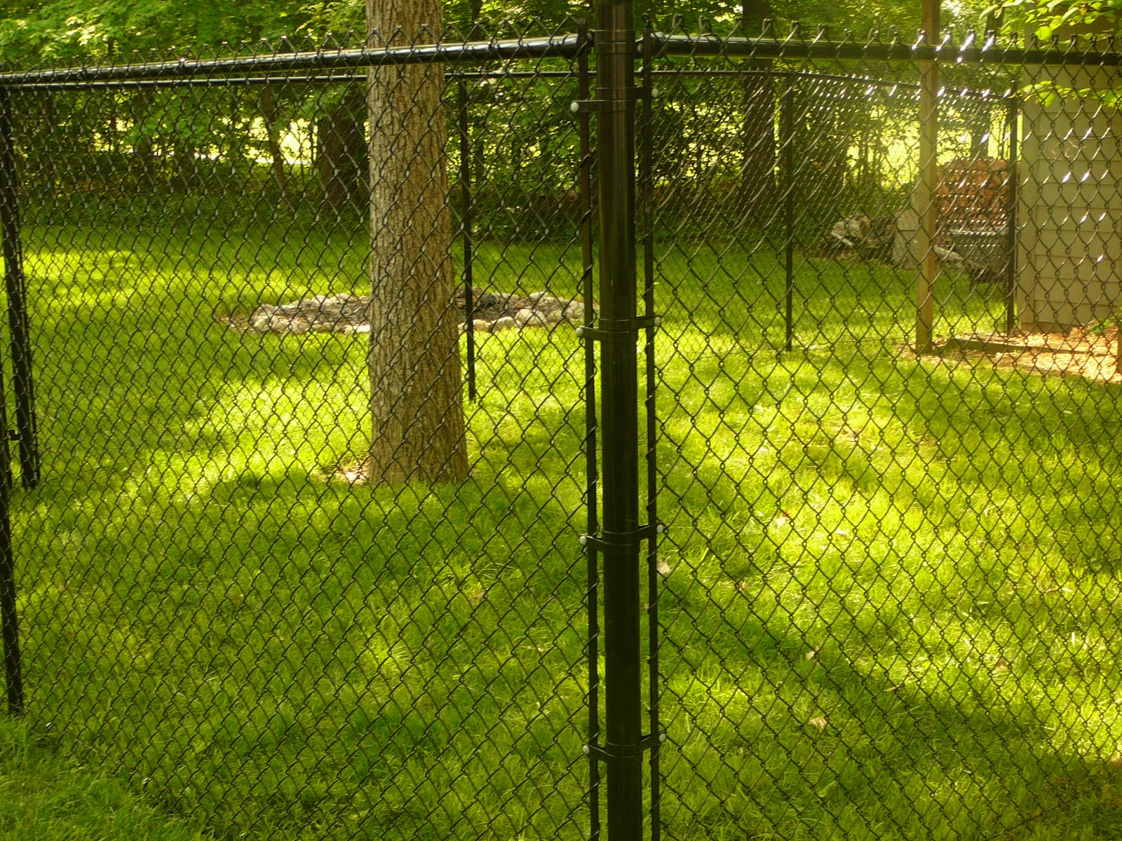 K Amp M Fence 6 Tall Black Vinyl Chain Link