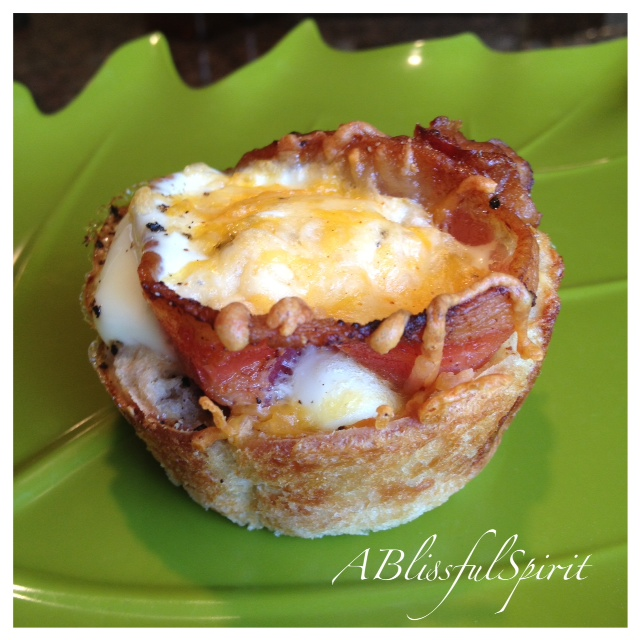 Bacon and Egg Breakfast Muffin Cups | A Blissful Spirit