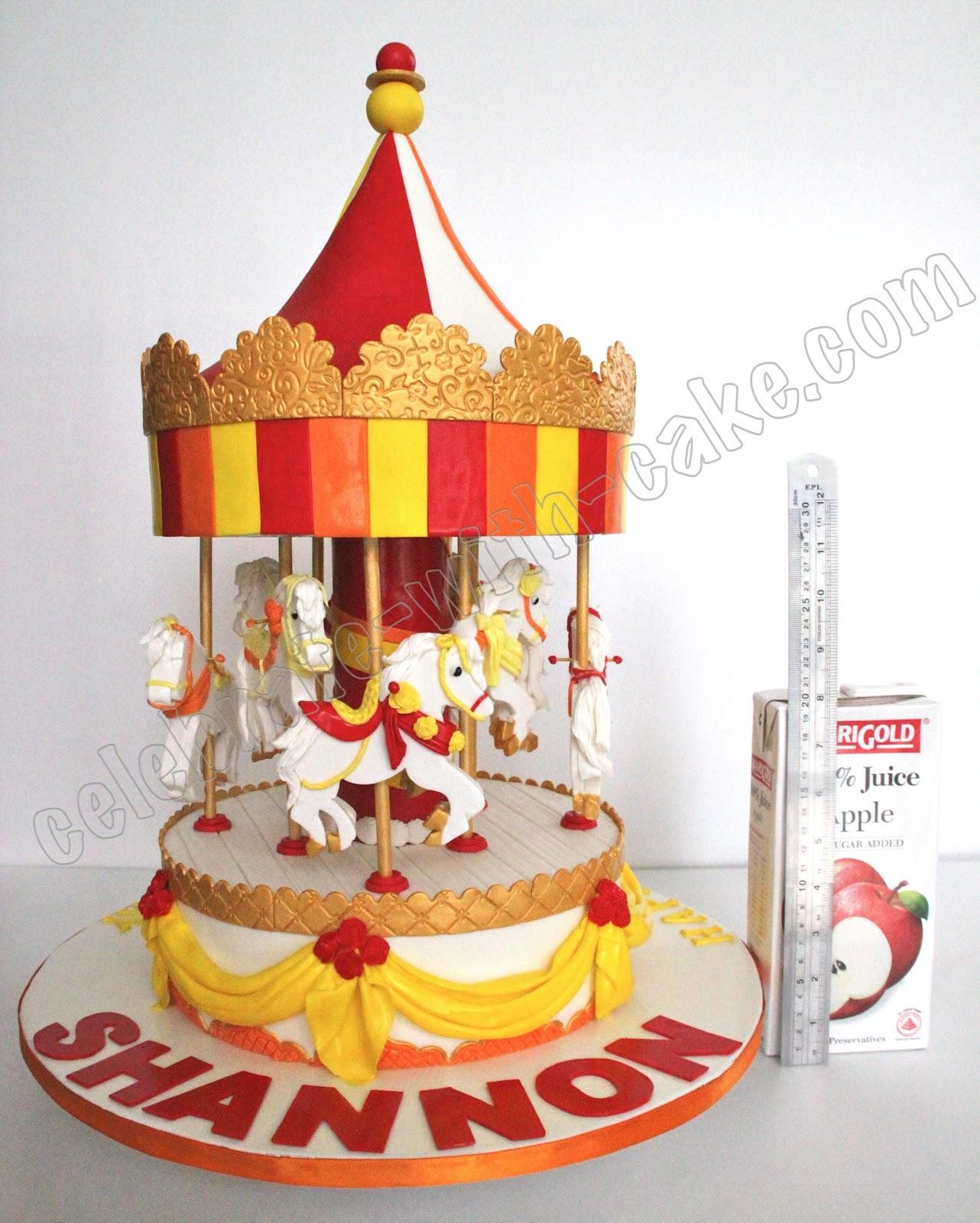 Celebrate With Cake Static Carousel Cake
