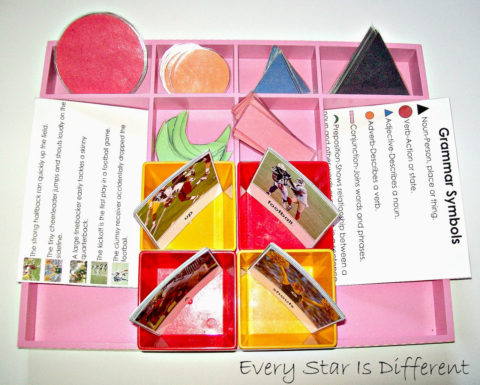 american football unit w free printables every star is different