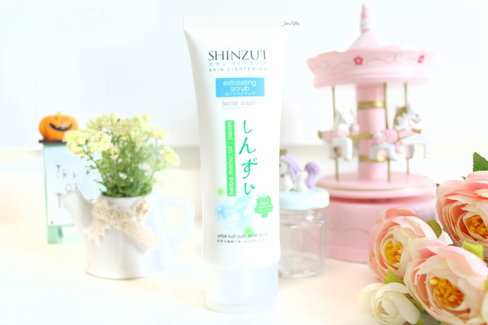 shinzui, putih itu shinzui, skin care, review shinzui, shinzui lightening series, shinzui scrub, shinzui facial wash, perawatan wajah, acne