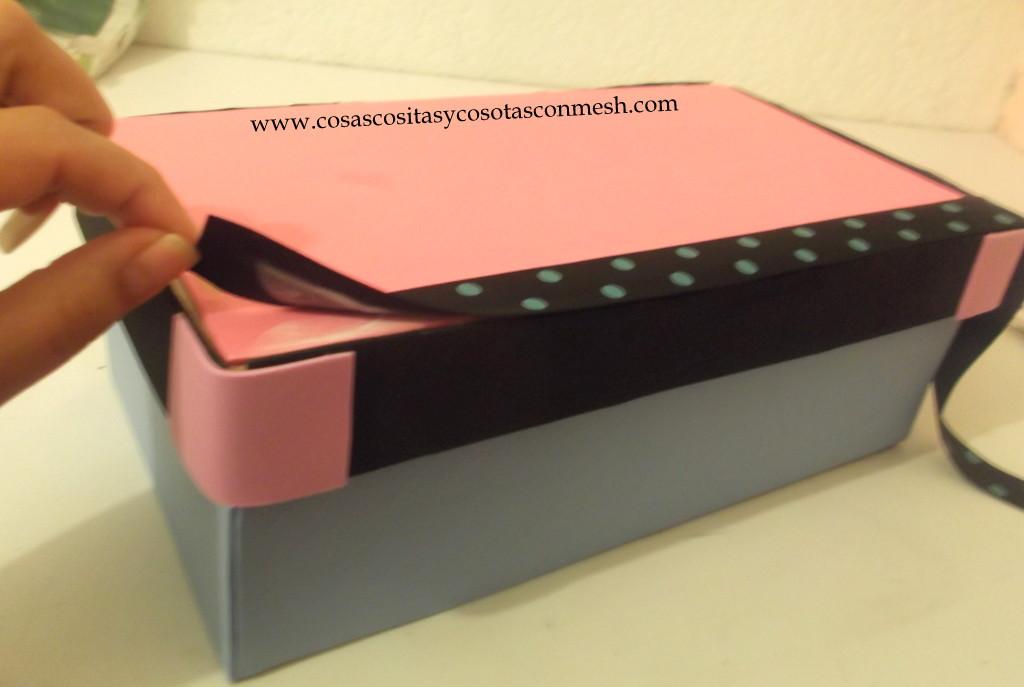 Como decorar una caja de zapatos cositasconmesh - Decorar cajas de zapatos ...