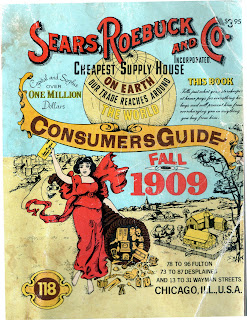old historic Sears & Roebuck Co. catalogue guide 1909 turn of the century antique