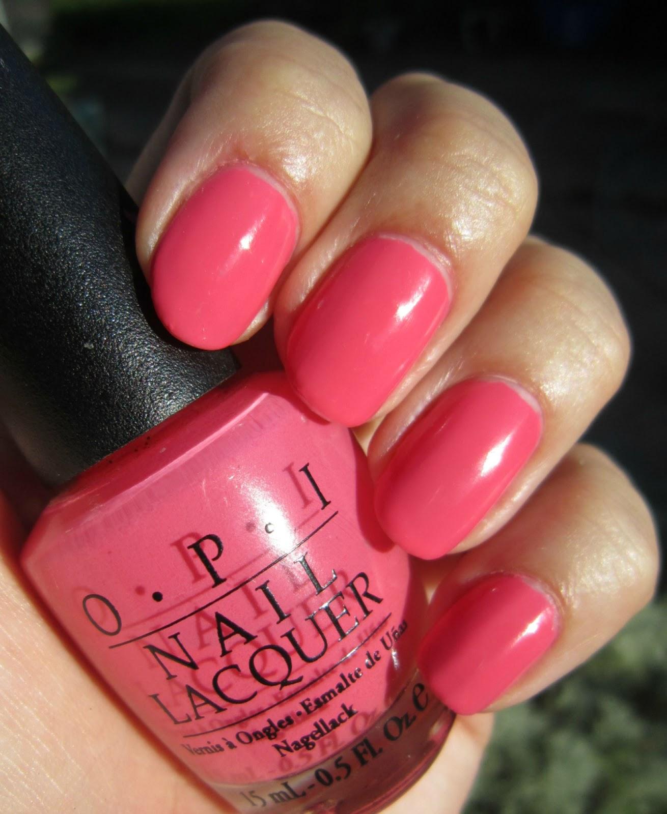 Concrete And Nail Polish: OPI ElePhantastic Pink