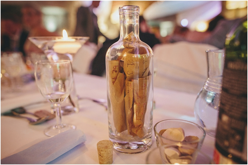 Messages in bottle for bride and groom
