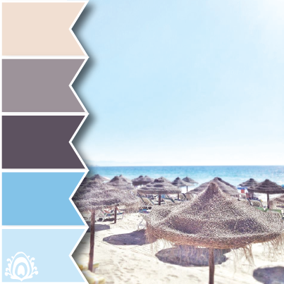 summer paradise, color palette, pastel feather studio, blue, navy