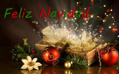 Postal Navideña con mensaje Feliz Navidad