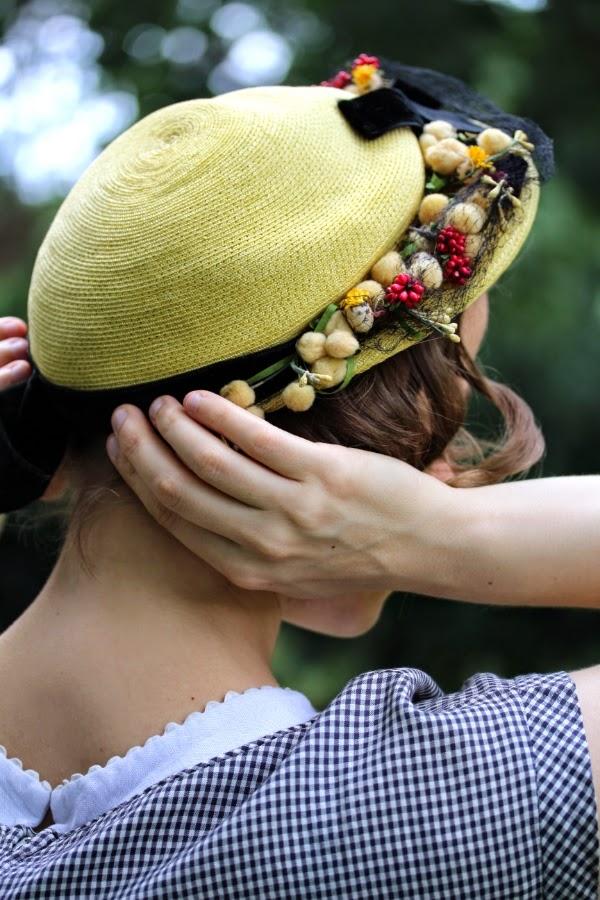Vintage Hat Fit for a Picnic #vintage #1950s #hat