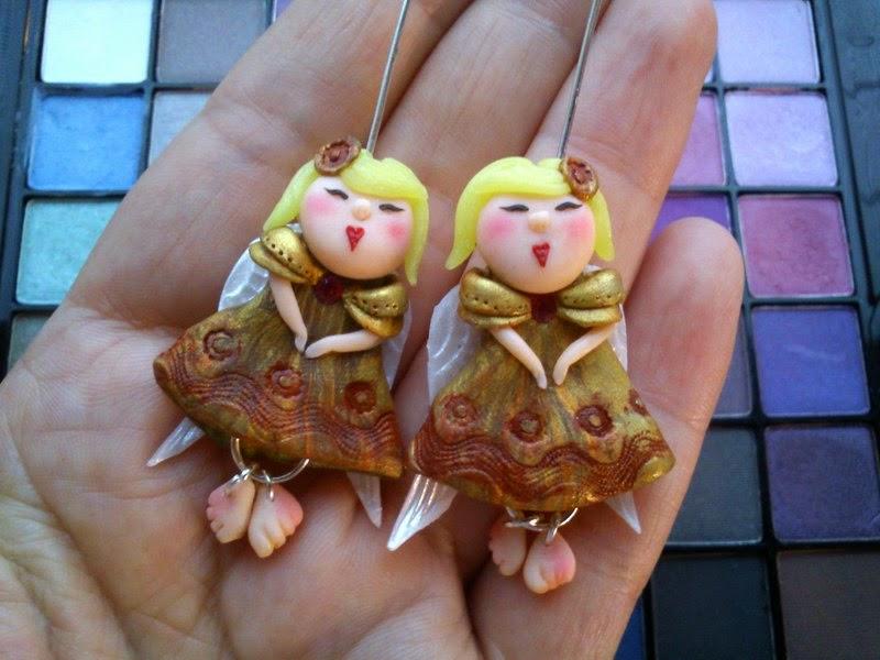angels, earrings, anioły , aniołki, kolczyki,