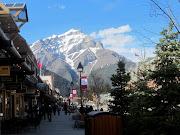 Main Street, Banff. Looks like the conversation was entertainingor . (banff main street may )