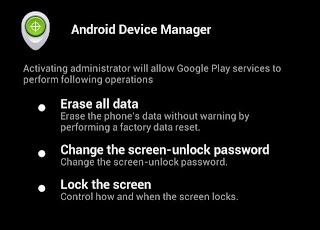 Android Device Manager: devices official  update on some phones Android