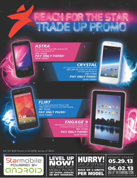 Starmobile Astra, Crystal, Flirt, and Engage 9 Trade Up Promo!