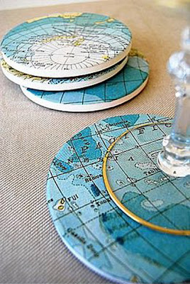 manualidades con mapas