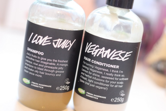 Lush shampoo and conditioner