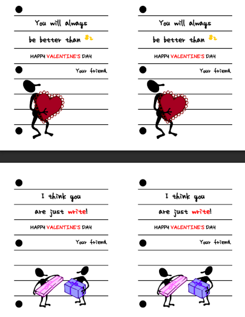 """Just the """"Write"""" Kind of Valentines (free printables)"""