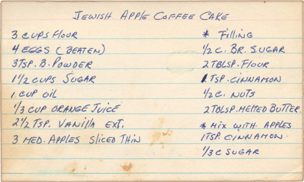 Memere S Favorite Recipes Jewish Apple Coffee Cake