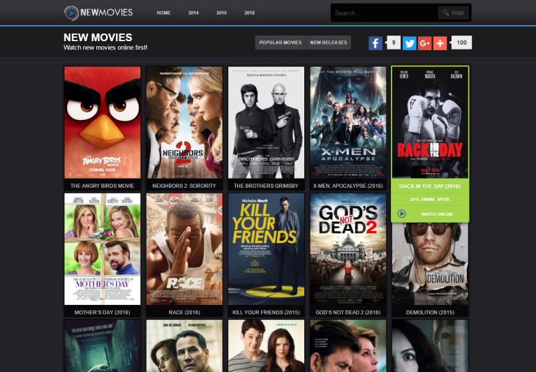 top free movie websites online