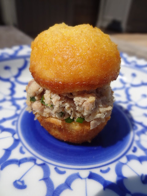 Scrumpdillyicious: Mini Corn Muffin & Lemon Chicken Salad Appetizers