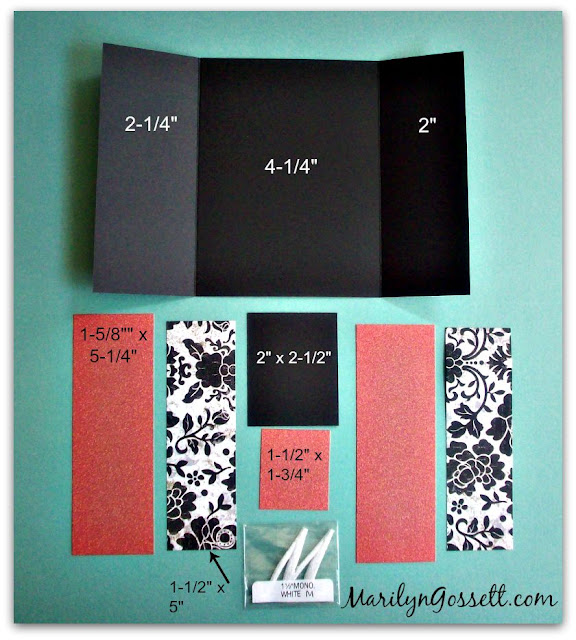 handmade gate-fold notecard
