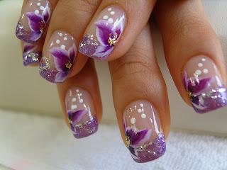 nokti slike cvece na noktima 7