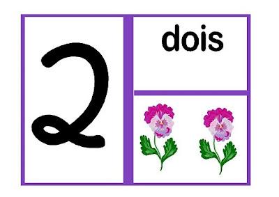 numerais de 1 a 9 - cartaz colorido