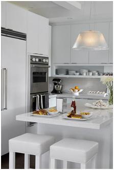 Decora y disena 10 fotos de cocinas peque as en forma de for Cocinas en ele pequenas