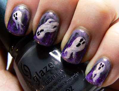 This Is Halloween Nail Art Challenge: Ghosts.