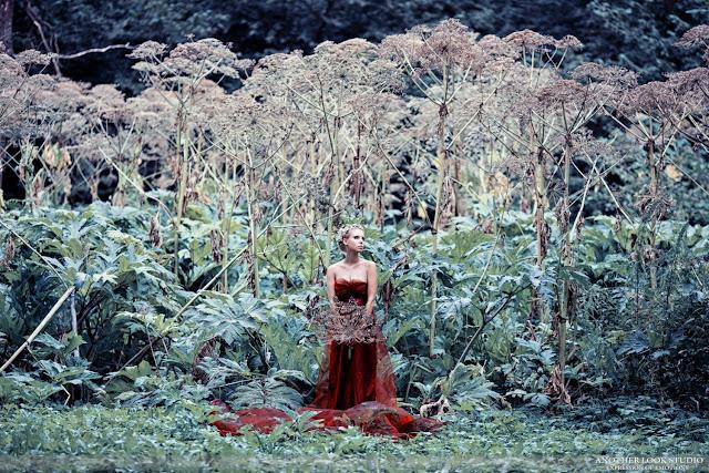 фотосессия фея на фоне борщевика