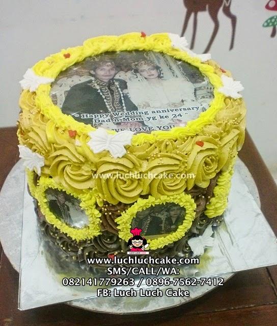 Kue Tart Anniversary Dengan Foto Daerah Surabaya - Sidoarjo