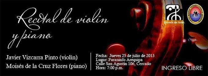Recital de violín y piano (25 julio)