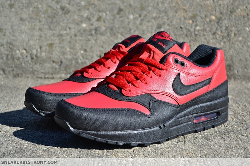 nike shoes mens air max 1 premium red