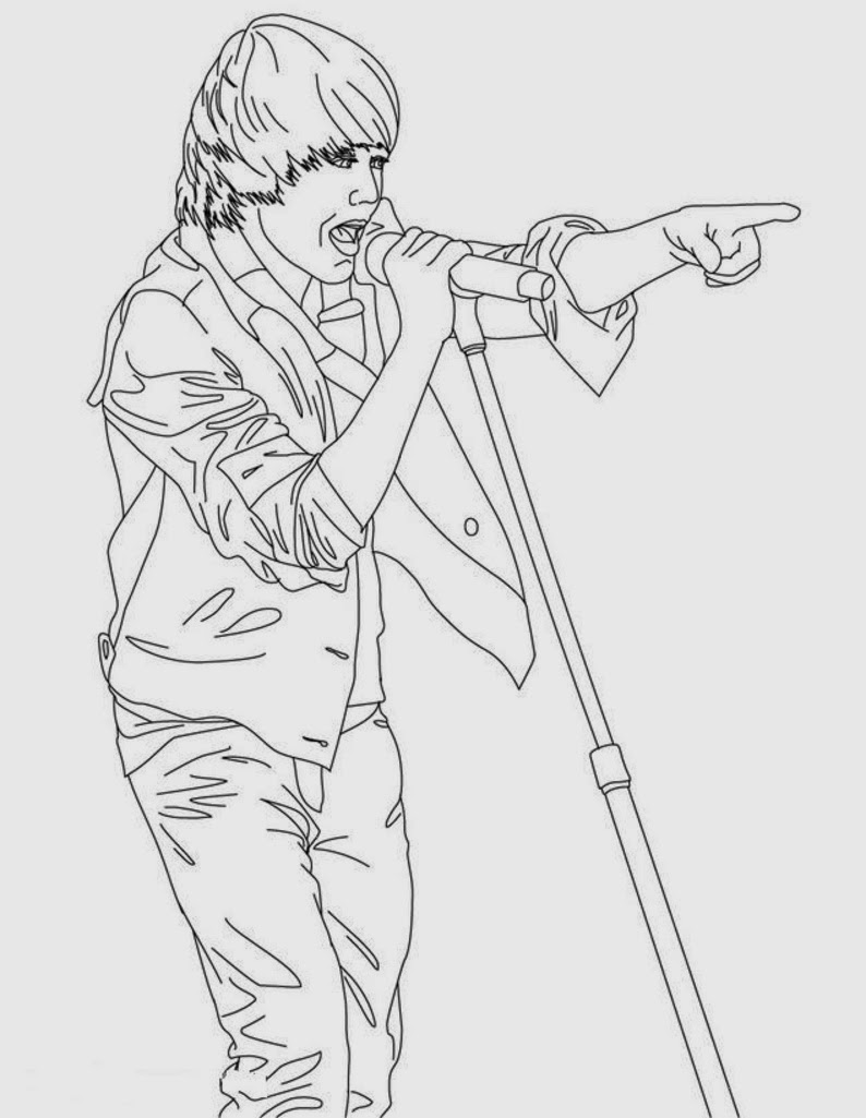 Coloring pages justin bieber - Coloring Pictures Of Hello Kitty To Print