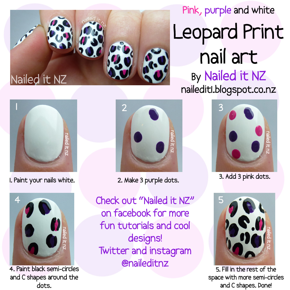 Nail Art For Short Nails 8 White Leopard Print Nail Art