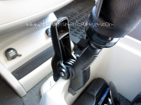 Clip-N-Clamp in car