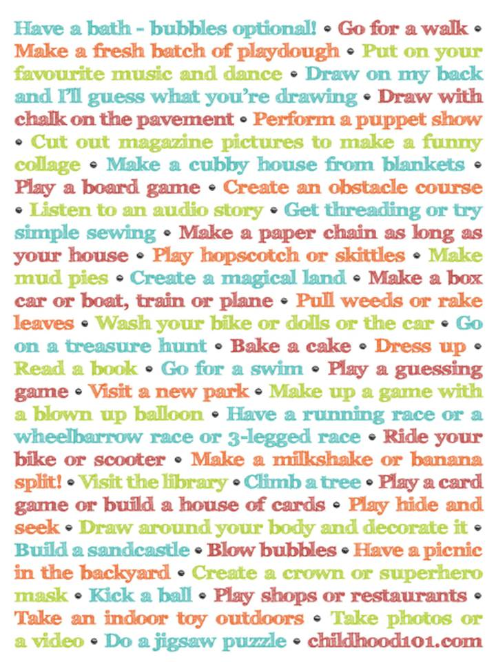 Top s p o t things to do with your child this summer for Fun projects for kids to do at home