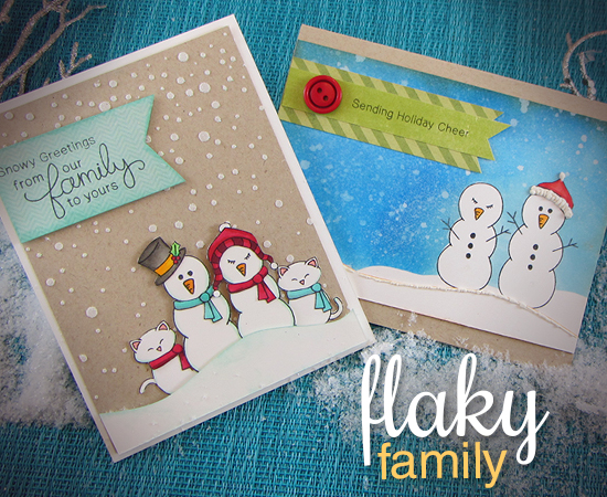 Flaky Family Snowman Stamp set by Newton's Nook Designs - cards by Jennifer Jackson