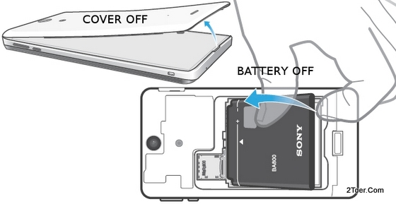 Sony Xperia LT25i Open Back Cover, Remove Battery
