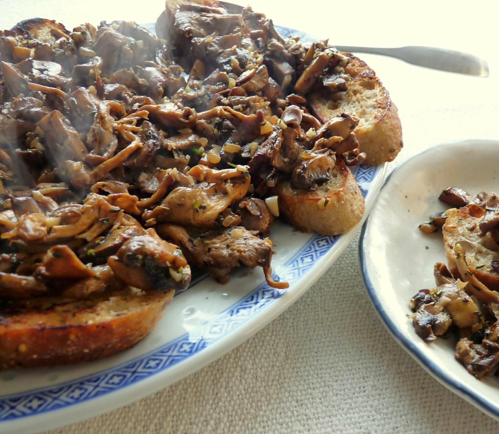 Mixed Mushrooms on Toast