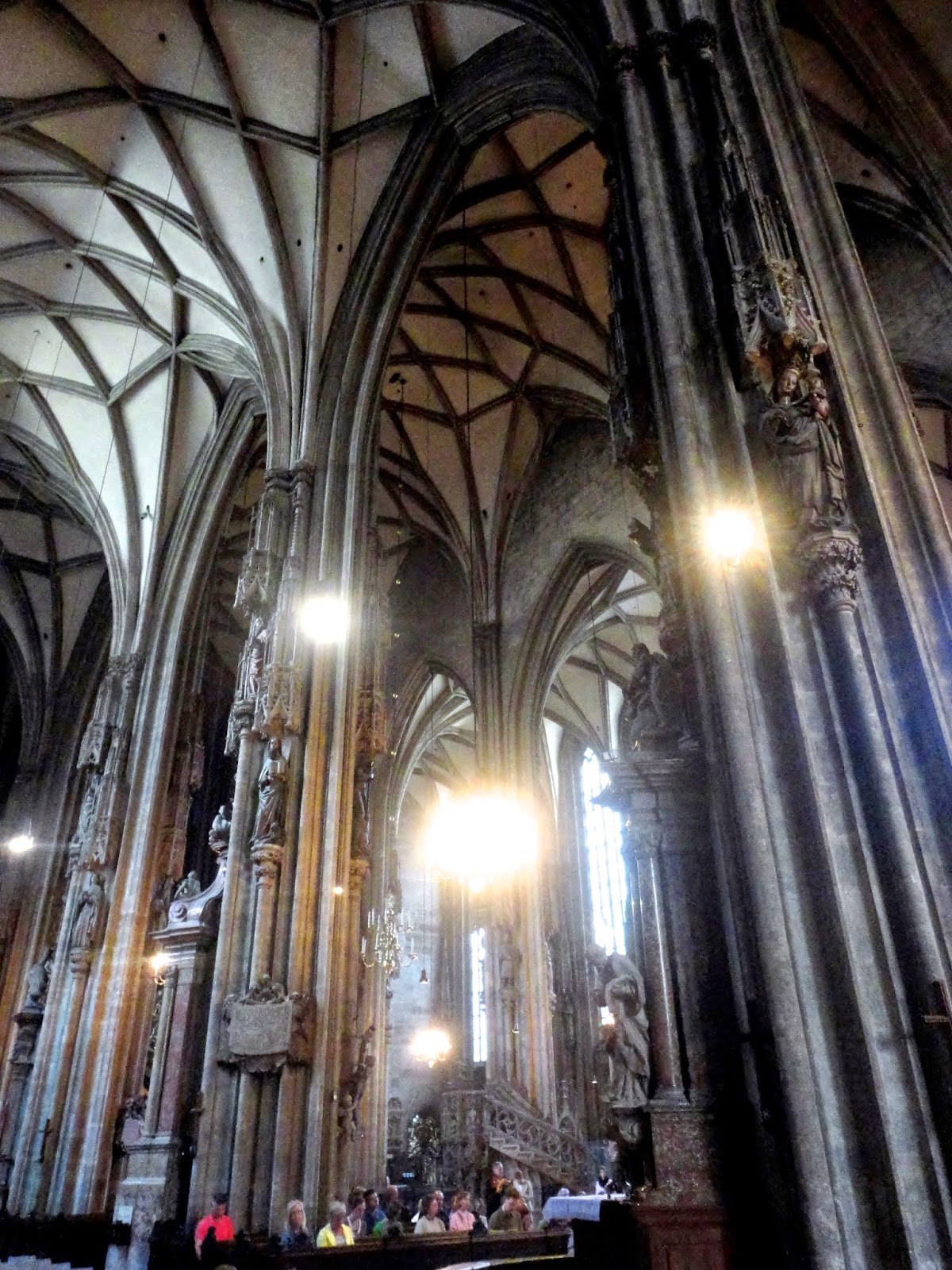 Inside of St Stephen's Cathedral, Vienna, Austria