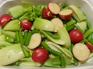 Winter Veggies in Baking Dish