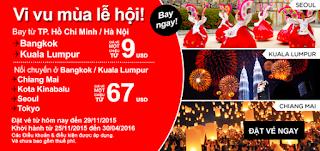 Khuyến mãi Air Asia Vi vu mùa Lễ Hội