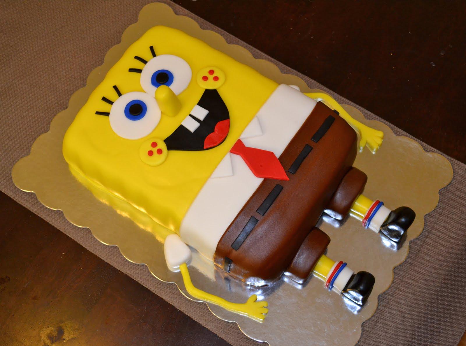 Spongebob Squarepants Cupcake Cake