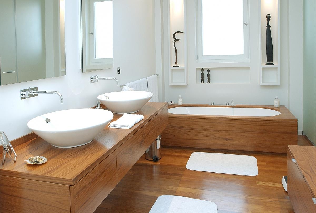 Salle de bain bois refaire sa salle de bain - Salle de bain ancienne bois ...