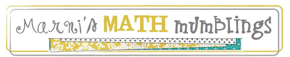 Marni's Math Mumblings