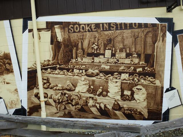 Sooke Agriculture Historium mural - fair exhibit