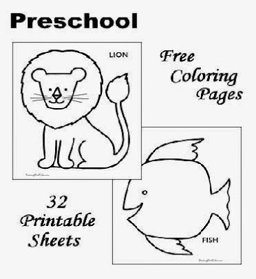 preschool color sheets free coloring sheet